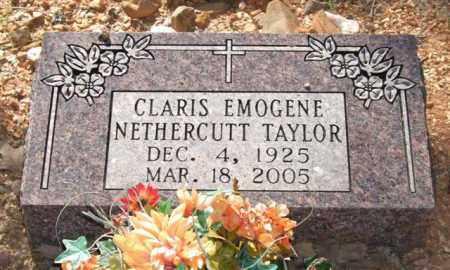 NETHERCUTT TAYLOR, CLARIS EMOGENE - Saline County, Arkansas | CLARIS EMOGENE NETHERCUTT TAYLOR - Arkansas Gravestone Photos