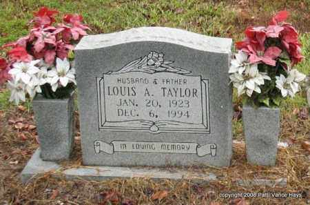 TAYLOR, LOUIS A. - Saline County, Arkansas | LOUIS A. TAYLOR - Arkansas Gravestone Photos