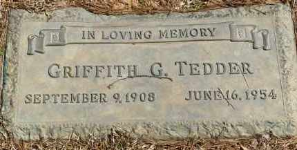 TEDDER, GRIFFITH G. - Saline County, Arkansas | GRIFFITH G. TEDDER - Arkansas Gravestone Photos