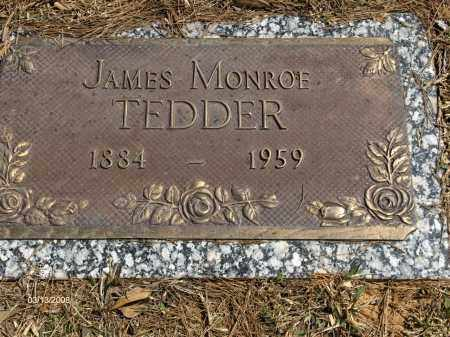 TEDDER, JAMES MONROE - Saline County, Arkansas | JAMES MONROE TEDDER - Arkansas Gravestone Photos