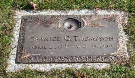 THOMPSON, BERNICE G. - Saline County, Arkansas | BERNICE G. THOMPSON - Arkansas Gravestone Photos