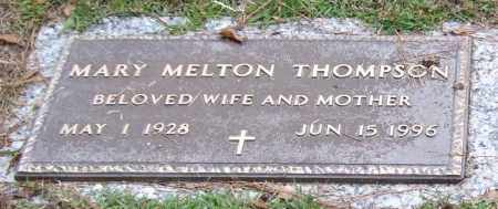 MELTON THOMPSON, MARY - Saline County, Arkansas | MARY MELTON THOMPSON - Arkansas Gravestone Photos