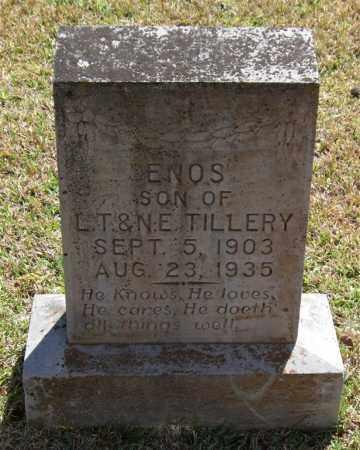 TILLERY, ENOS - Saline County, Arkansas | ENOS TILLERY - Arkansas Gravestone Photos