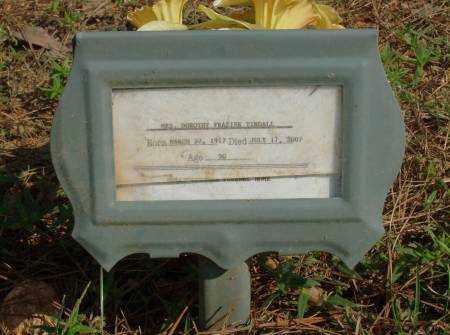 FRAZIER TINDALL, DOROTHY - Saline County, Arkansas | DOROTHY FRAZIER TINDALL - Arkansas Gravestone Photos