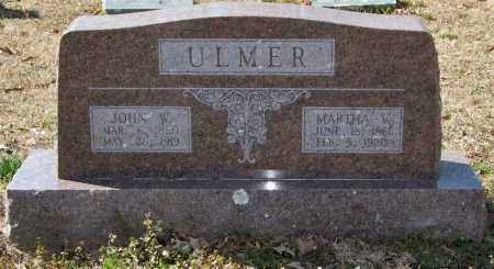 ULMER, JOHN W. - Saline County, Arkansas | JOHN W. ULMER - Arkansas Gravestone Photos