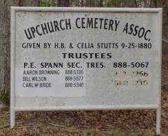 * UPCHURCH CEMETERY, SIGN - Saline County, Arkansas | SIGN * UPCHURCH CEMETERY - Arkansas Gravestone Photos