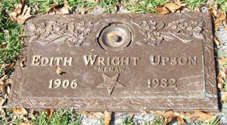 UPSON, EDITH - Saline County, Arkansas | EDITH UPSON - Arkansas Gravestone Photos
