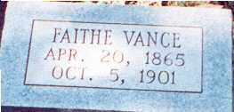 VANCE, FAITHE - Saline County, Arkansas | FAITHE VANCE - Arkansas Gravestone Photos