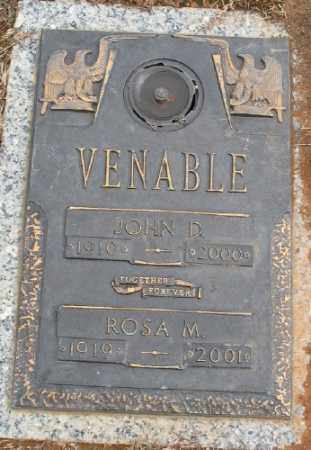 VENABLE, JOHN D. - Saline County, Arkansas | JOHN D. VENABLE - Arkansas Gravestone Photos