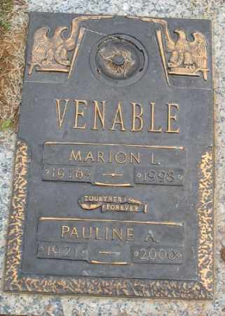 VENABLE, MARION L. - Saline County, Arkansas | MARION L. VENABLE - Arkansas Gravestone Photos