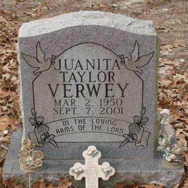 TAYLOR VERWEY, JUANITA - Saline County, Arkansas | JUANITA TAYLOR VERWEY - Arkansas Gravestone Photos