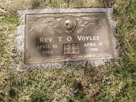 VOYLES, REV, T.O. - Saline County, Arkansas | T.O. VOYLES, REV - Arkansas Gravestone Photos