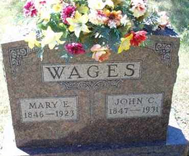 WAGES, MARY E - Saline County, Arkansas | MARY E WAGES - Arkansas Gravestone Photos