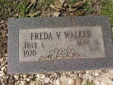 WALKER, FREDA V. - Saline County, Arkansas | FREDA V. WALKER - Arkansas Gravestone Photos