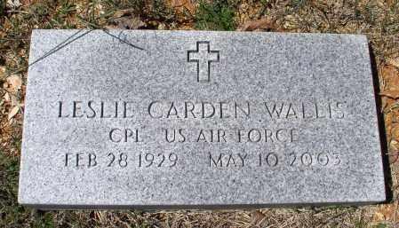 WALLIS (VETERAN), LESLIE CARDEN - Saline County, Arkansas | LESLIE CARDEN WALLIS (VETERAN) - Arkansas Gravestone Photos