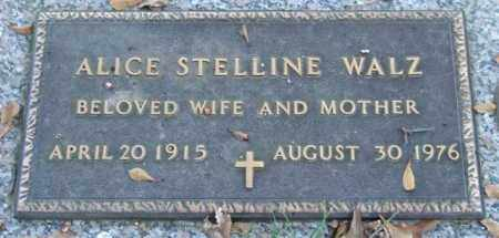 STELLINE WALZ, ALICE - Saline County, Arkansas | ALICE STELLINE WALZ - Arkansas Gravestone Photos