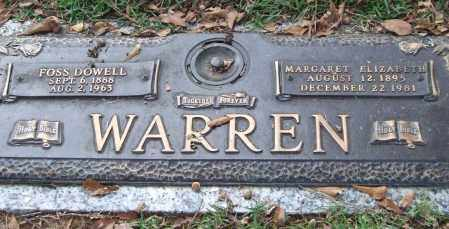 WARREN, MARGARET ELIZABETH - Saline County, Arkansas | MARGARET ELIZABETH WARREN - Arkansas Gravestone Photos