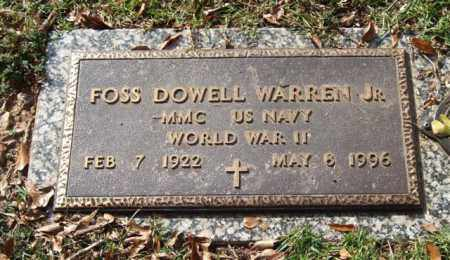 WARREN, JR. (VETERAN WWII), FOSS DOWELL - Saline County, Arkansas | FOSS DOWELL WARREN, JR. (VETERAN WWII) - Arkansas Gravestone Photos