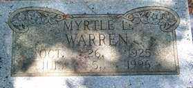 WARREN, MYRTLE L - Saline County, Arkansas | MYRTLE L WARREN - Arkansas Gravestone Photos
