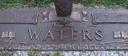 WATERS, ORBRA G. - Saline County, Arkansas | ORBRA G. WATERS - Arkansas Gravestone Photos