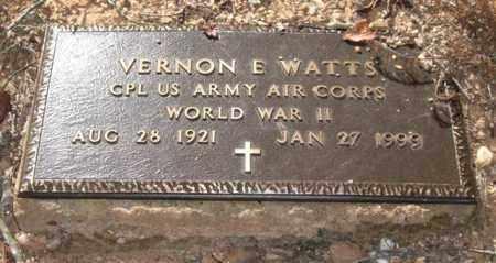 WATTS (VETERAN WWII), VERNON EUGENE - Saline County, Arkansas | VERNON EUGENE WATTS (VETERAN WWII) - Arkansas Gravestone Photos