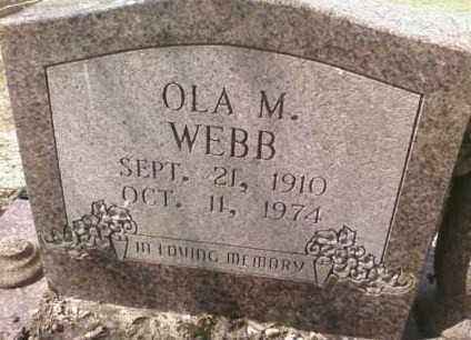 WEBB, OLA M. - Saline County, Arkansas | OLA M. WEBB - Arkansas Gravestone Photos