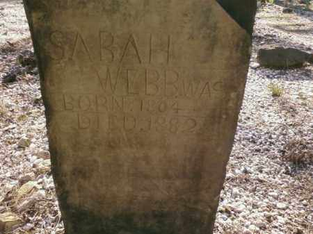 WEBB, SARAH - Saline County, Arkansas | SARAH WEBB - Arkansas Gravestone Photos