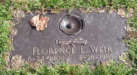 WEIR, FLORENCE L. - Saline County, Arkansas | FLORENCE L. WEIR - Arkansas Gravestone Photos
