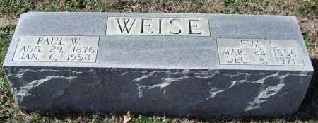 WEISE, PAUL W. - Saline County, Arkansas | PAUL W. WEISE - Arkansas Gravestone Photos