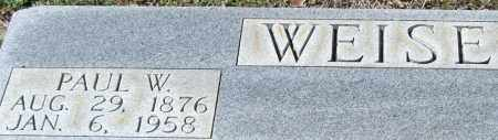 WEISE, PAUL W. (CLOSE UP) - Saline County, Arkansas | PAUL W. (CLOSE UP) WEISE - Arkansas Gravestone Photos