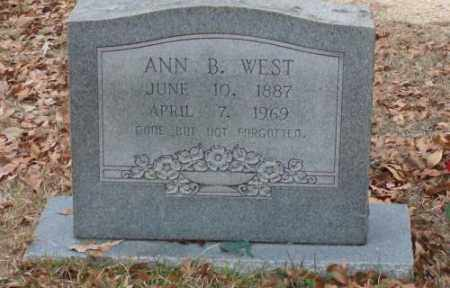 WEST, ANN B. - Saline County, Arkansas | ANN B. WEST - Arkansas Gravestone Photos