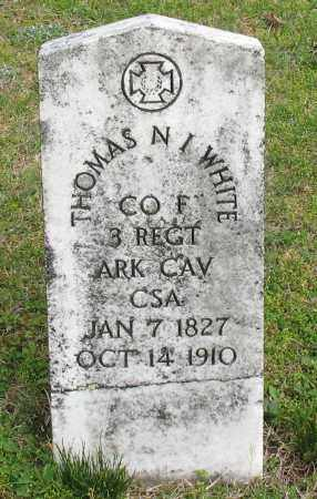 WHITE (VETERAN CSA), THOMAS NEWTON I - Saline County, Arkansas | THOMAS NEWTON I WHITE (VETERAN CSA) - Arkansas Gravestone Photos