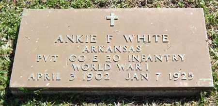WHITE (VETERAN WWI), ANKIE F. - Saline County, Arkansas | ANKIE F. WHITE (VETERAN WWI) - Arkansas Gravestone Photos