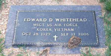 WHITEHEAD (VETERAN 2 WARS), EDWARD D - Saline County, Arkansas | EDWARD D WHITEHEAD (VETERAN 2 WARS) - Arkansas Gravestone Photos