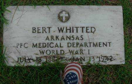 WHITTED  (VETERAN WWI), BERT - Saline County, Arkansas | BERT WHITTED  (VETERAN WWI) - Arkansas Gravestone Photos