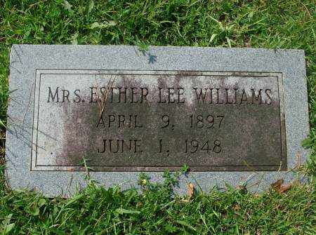 WILLIAMS, ESTHER - Saline County, Arkansas | ESTHER WILLIAMS - Arkansas Gravestone Photos