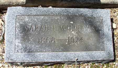 WILLIAMS, SARAH E. - Saline County, Arkansas | SARAH E. WILLIAMS - Arkansas Gravestone Photos