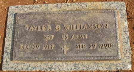 WILLIAMSON (VETERAN), TAYLOR G. - Saline County, Arkansas | TAYLOR G. WILLIAMSON (VETERAN) - Arkansas Gravestone Photos