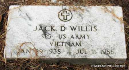 WILLIS (VETERAN VIET), JACK D. - Saline County, Arkansas | JACK D. WILLIS (VETERAN VIET) - Arkansas Gravestone Photos
