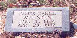 WILSON, JAMES DANIEL - Saline County, Arkansas | JAMES DANIEL WILSON - Arkansas Gravestone Photos