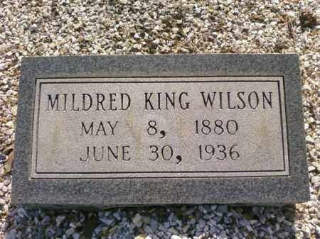 KING WILSON, MILDRED - Saline County, Arkansas | MILDRED KING WILSON - Arkansas Gravestone Photos