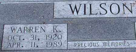 WILSON, WARREN KELLEY (CLOSE UP) - Saline County, Arkansas | WARREN KELLEY (CLOSE UP) WILSON - Arkansas Gravestone Photos