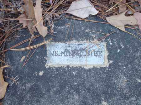 WINCHESTER, MR - Saline County, Arkansas | MR WINCHESTER - Arkansas Gravestone Photos