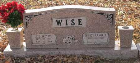 WISE, JOE SCOTTIE - Saline County, Arkansas | JOE SCOTTIE WISE - Arkansas Gravestone Photos
