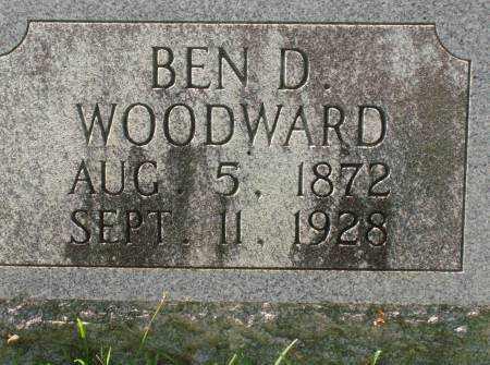 WOODWARD, BEN D. - Saline County, Arkansas | BEN D. WOODWARD - Arkansas Gravestone Photos
