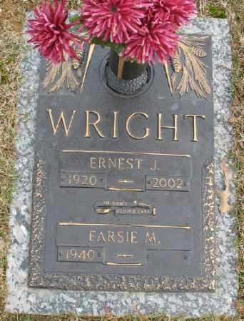 WRIGHT, ERNEST J. - Saline County, Arkansas | ERNEST J. WRIGHT - Arkansas Gravestone Photos