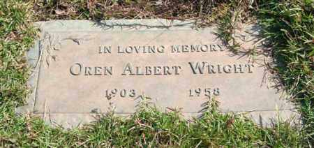 WRIGHT, OREN ALBERT - Saline County, Arkansas | OREN ALBERT WRIGHT - Arkansas Gravestone Photos