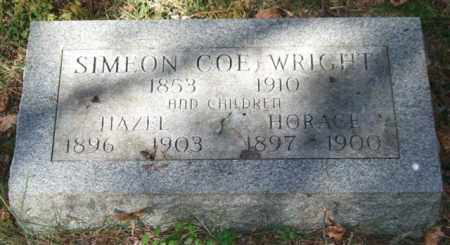COE WRIGHT, SIMEON - Saline County, Arkansas | SIMEON COE WRIGHT - Arkansas Gravestone Photos