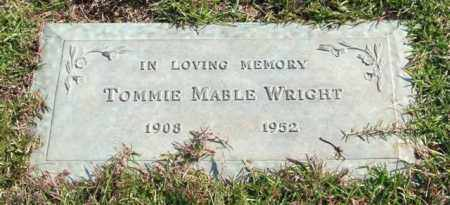 WRIGHT, TOMMIE MABLE - Saline County, Arkansas | TOMMIE MABLE WRIGHT - Arkansas Gravestone Photos