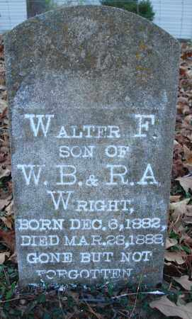 WRIGHT, WALTER F - Saline County, Arkansas | WALTER F WRIGHT - Arkansas Gravestone Photos